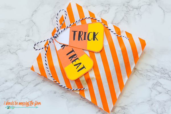 Candy Corn Gift Tags via I Should be Mopping the Floor