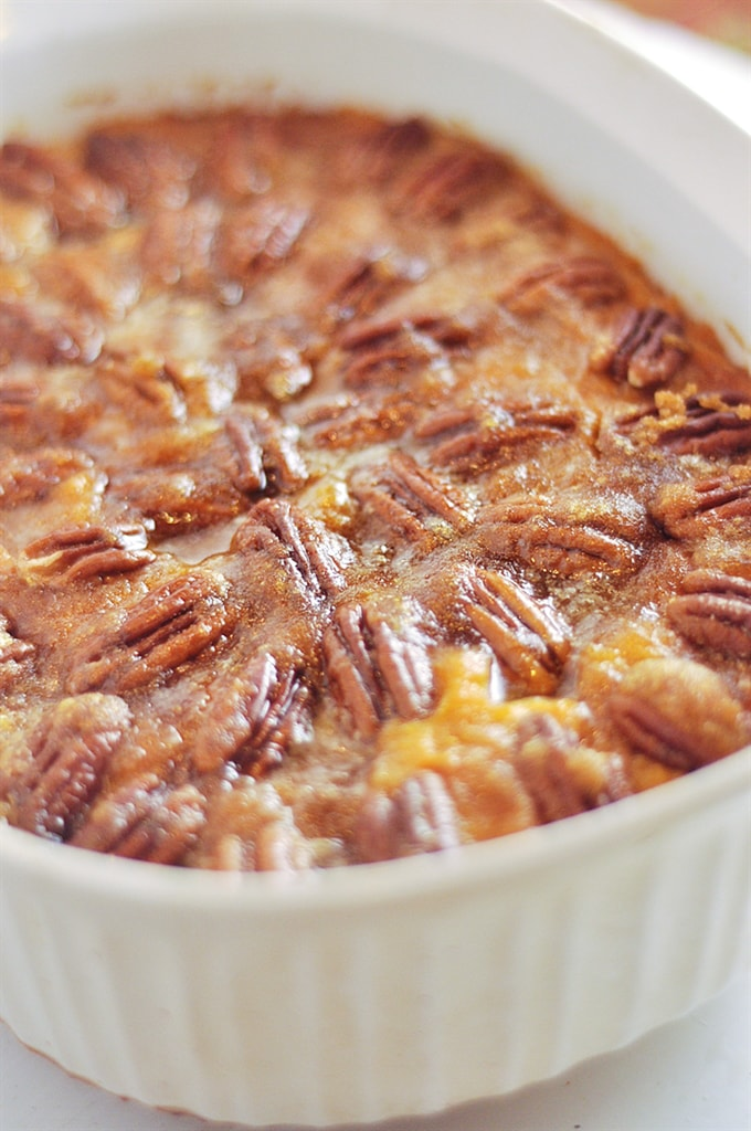 Pecan Topped Sweet Potatoes from Your Homebased Mom