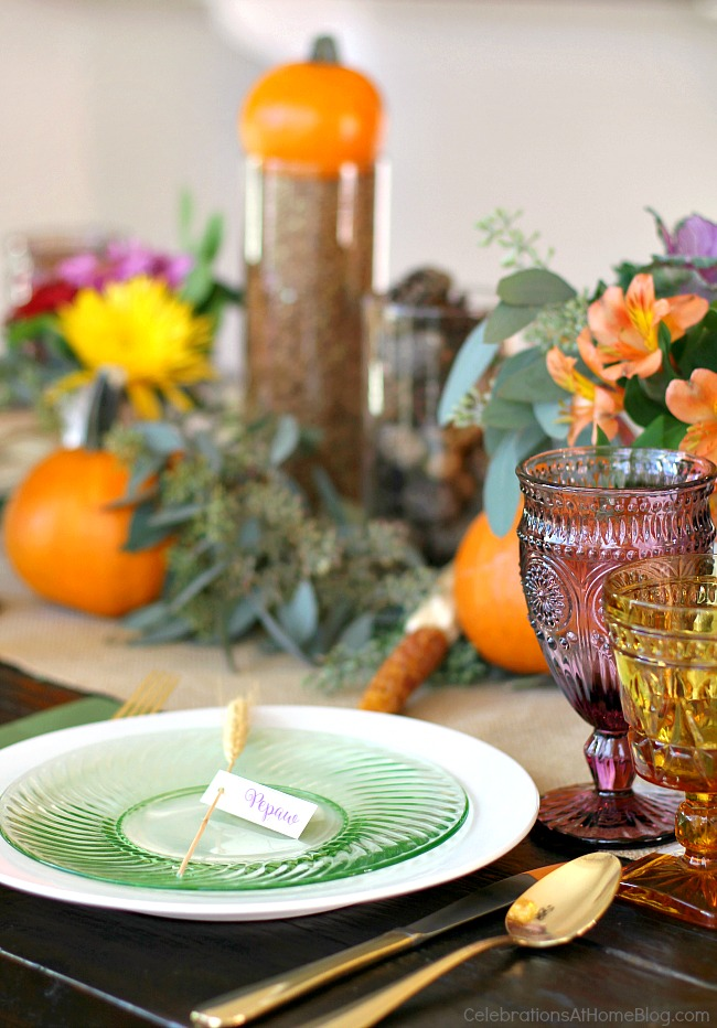 Thanksgiving Table Ideas from Celebrations at Home