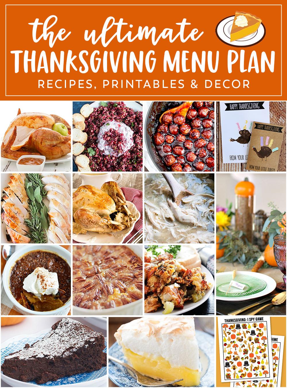 The Perfect Thanksgiving Menu Plan , Eighteen25