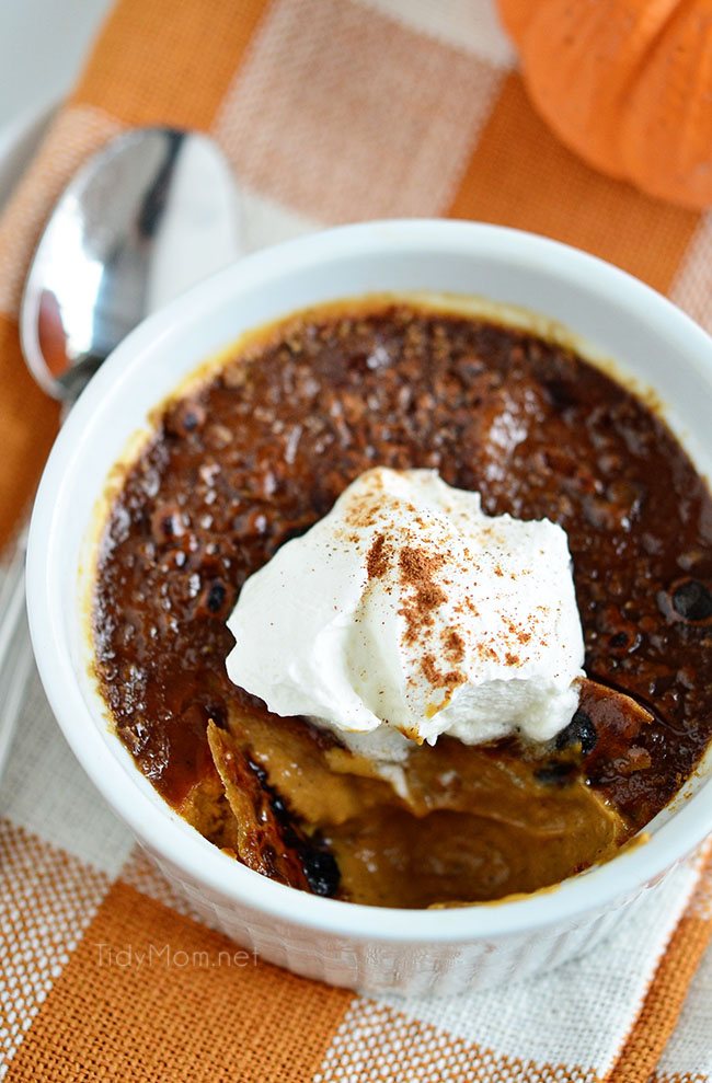 Pumpkin Creme Brulee from Tidy Mom