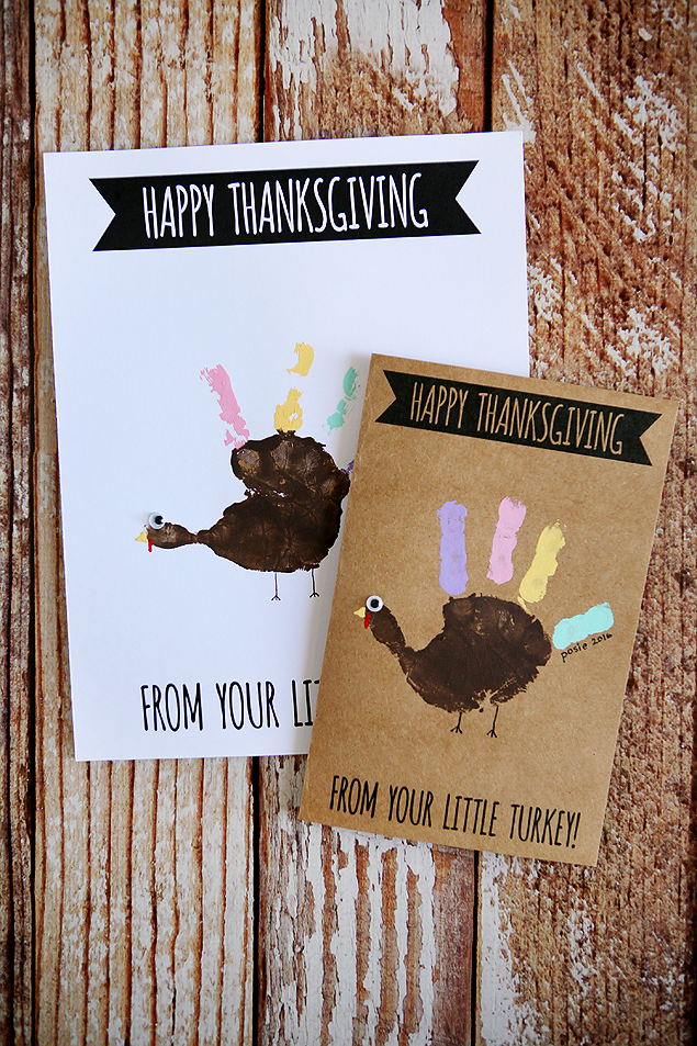 Handprint Turkey Cards from Eighteen25