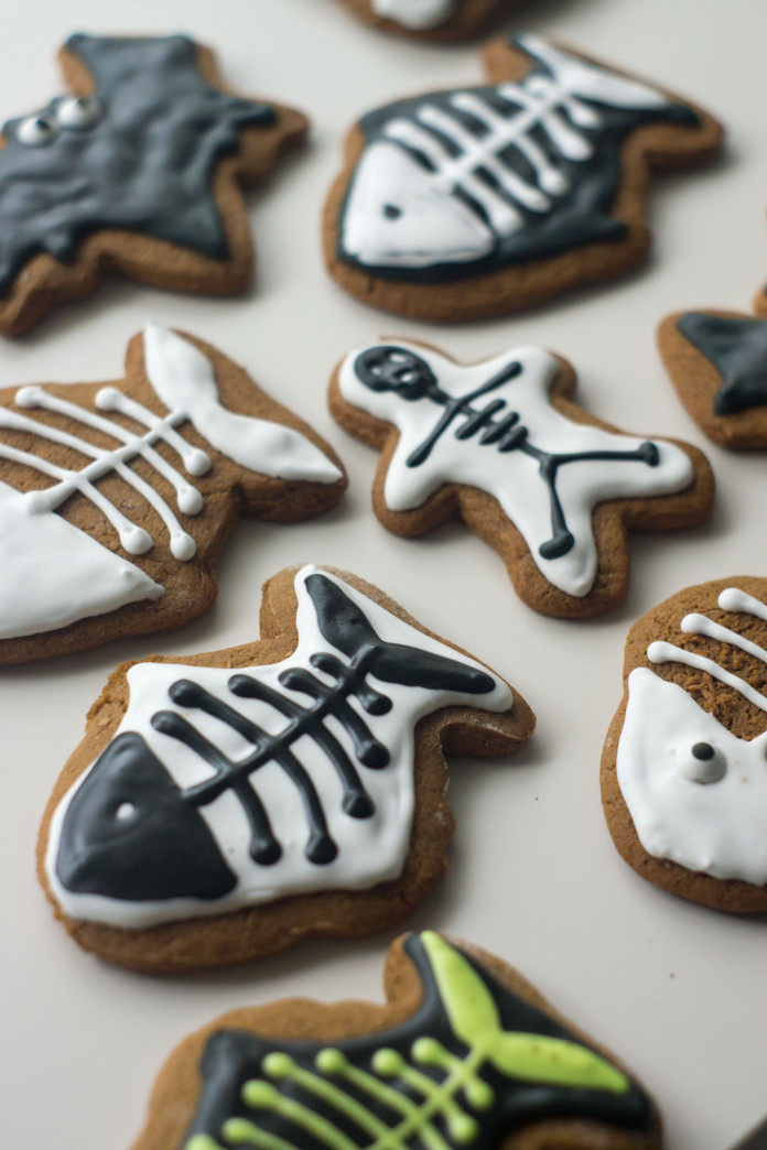 Spookie Gingerbread Cookies