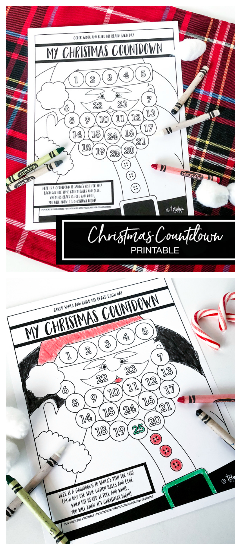 Christmas Countdown Printable | Free Christmas Printables