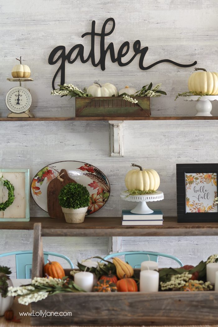Dining Room Fall Tablescape via Lolly Jane