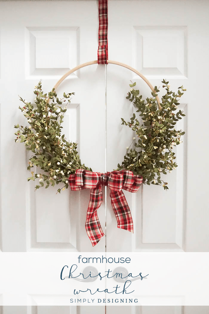Farmhouse Christmas Wreath via Simply Designing