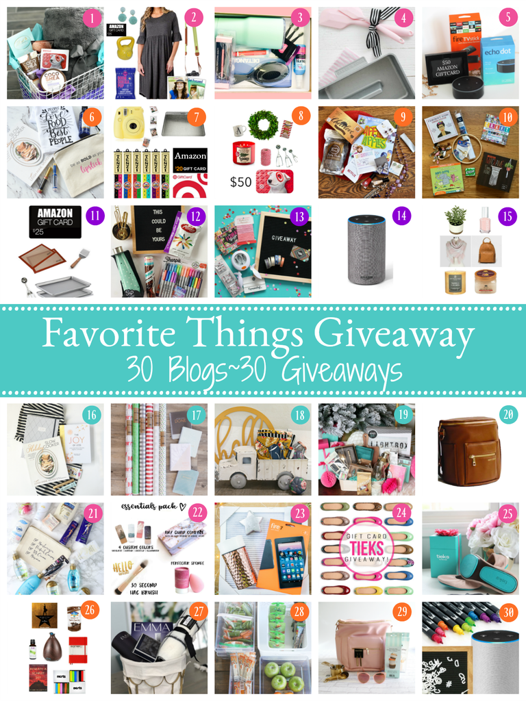 Fun Favorites Giveaway for 2017