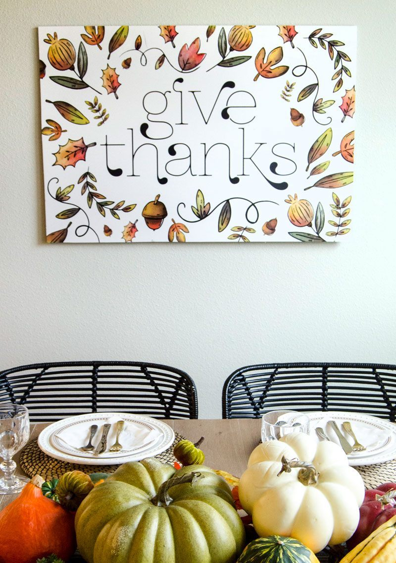 Our Friday Five-Love The Day Thanksgiving Backdrop