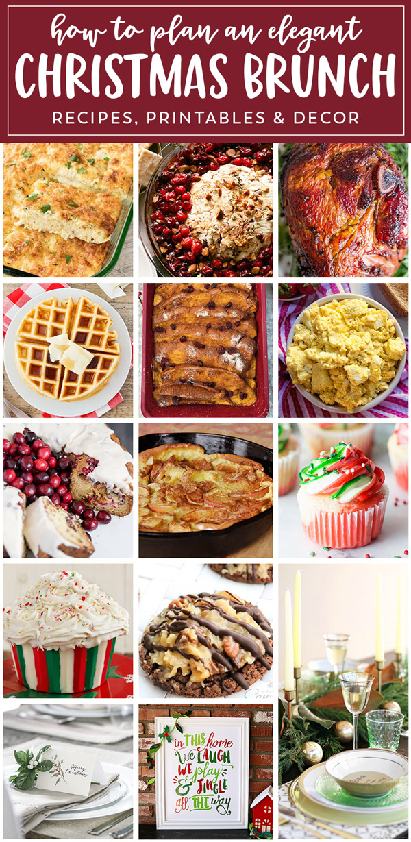 Planning the Perfect Christmas Brunch | Recipes, Decor Ideas and Free Printables to help you plan the perfect Christmas Brunch