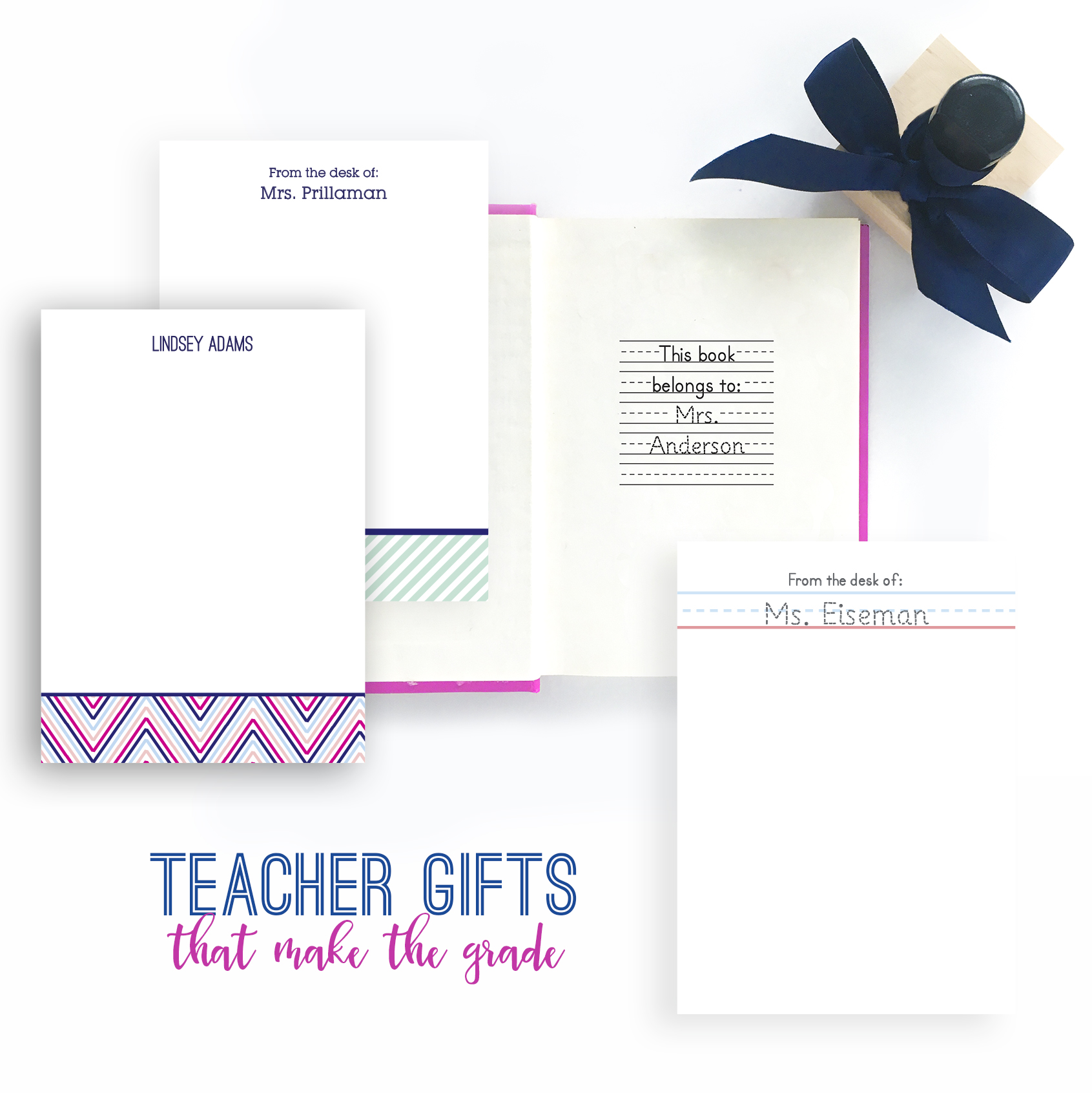Pretty, Personalized and Practical Teacher Gifts