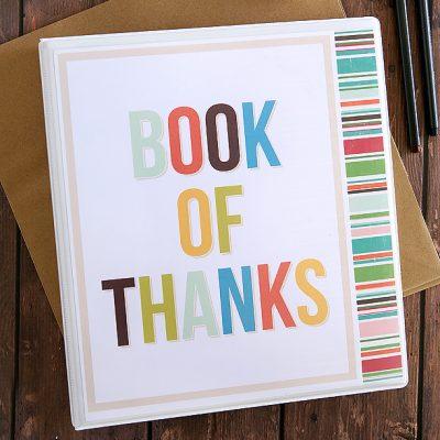 Printable Book of Thanks