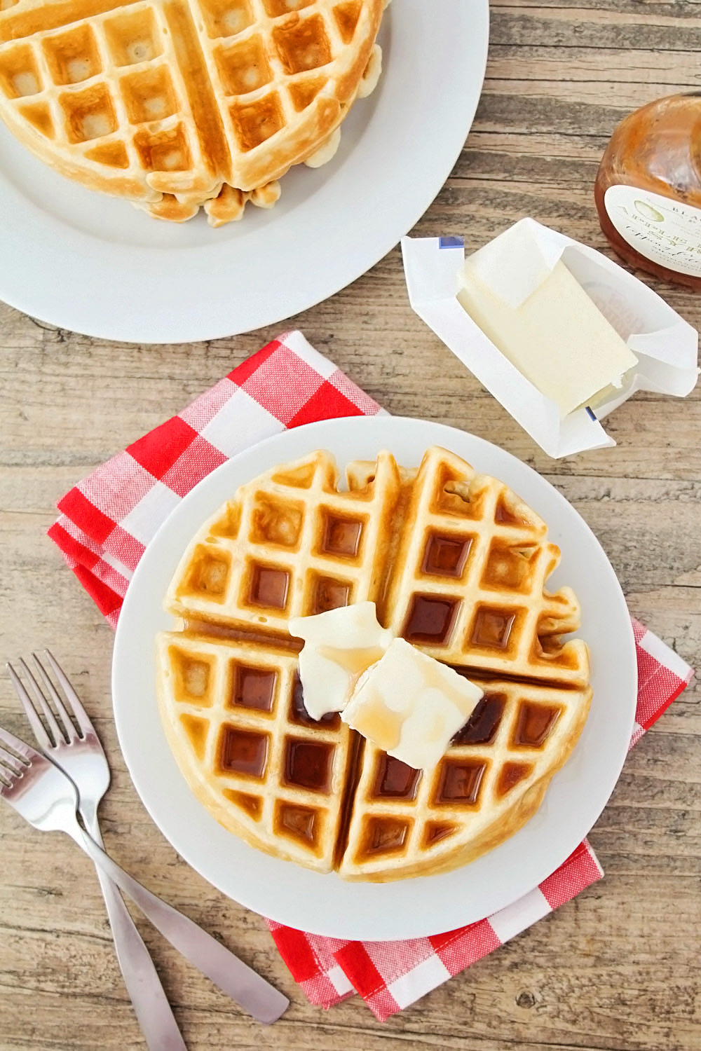 Planning the Perfect Christmas Brunch | Golden Butter Waffles from The Baker Upstairs