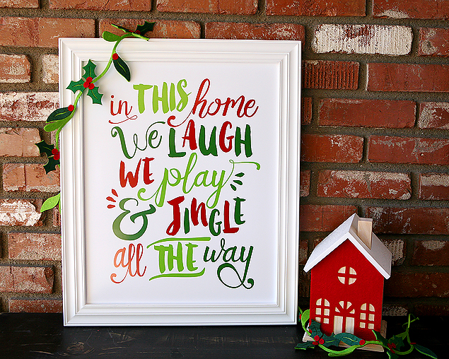 Planning the Perfect Christmas Brunch | Jingle All the Way Free Printable from Eighteen25