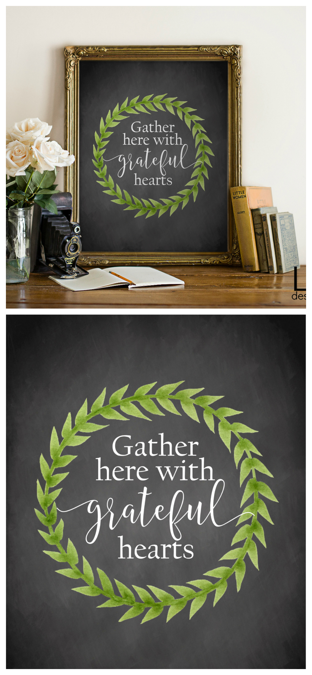 Gather Here With Grateful Hearts Print | Free Printable for Fall and Thanksgiving