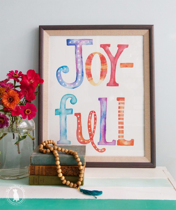 Free Joy-Full Print via The Handmade Home