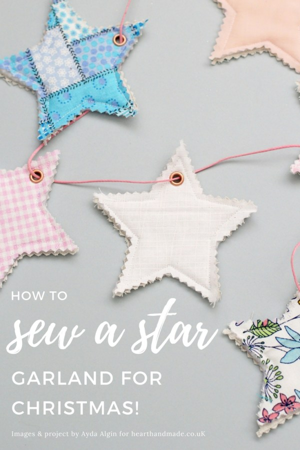 How to Sew a Star Garland via Heart Handmade
