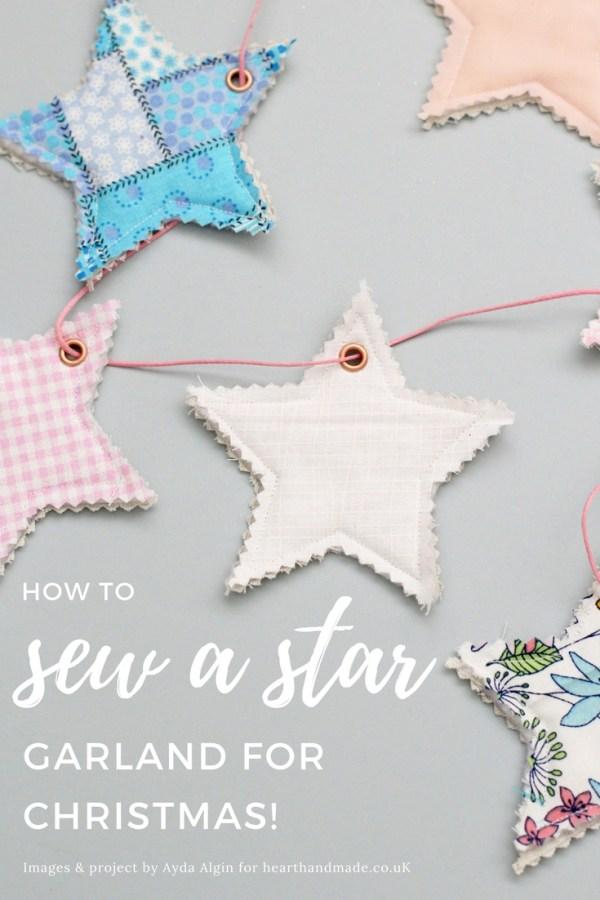How to Sew a Star Garland via Heart Handmade