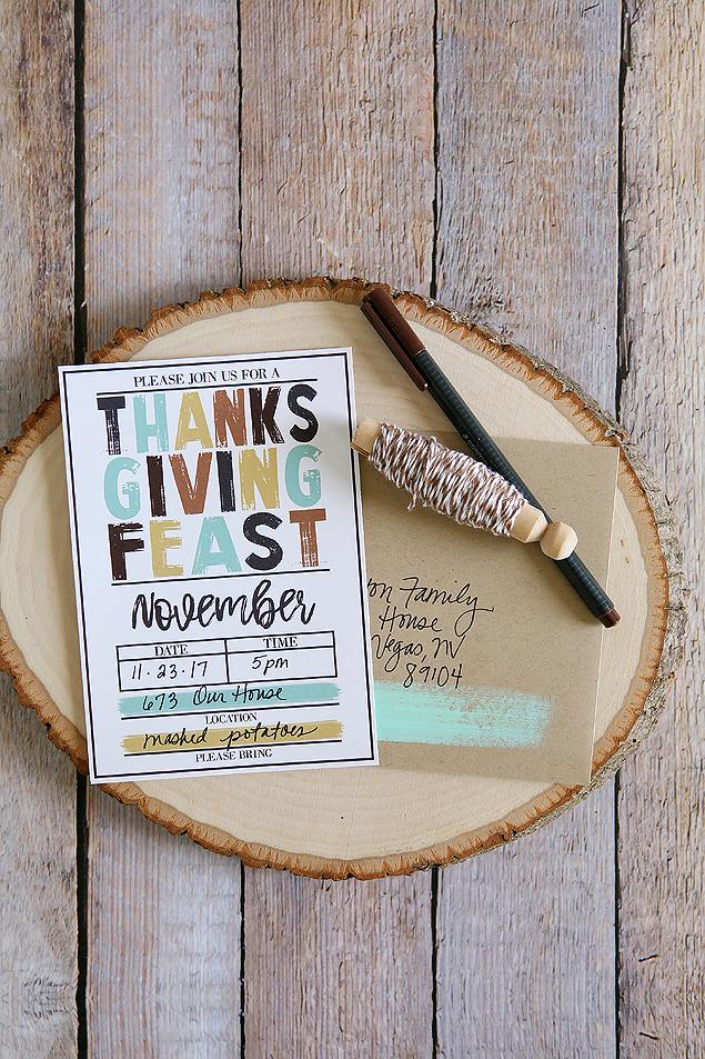 Free Printable Thanksgiving Invitations - Includes Friendsgiving Invites too!