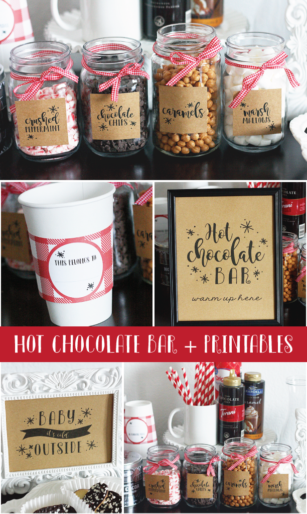 Hot Cocoa Bar + Printables
