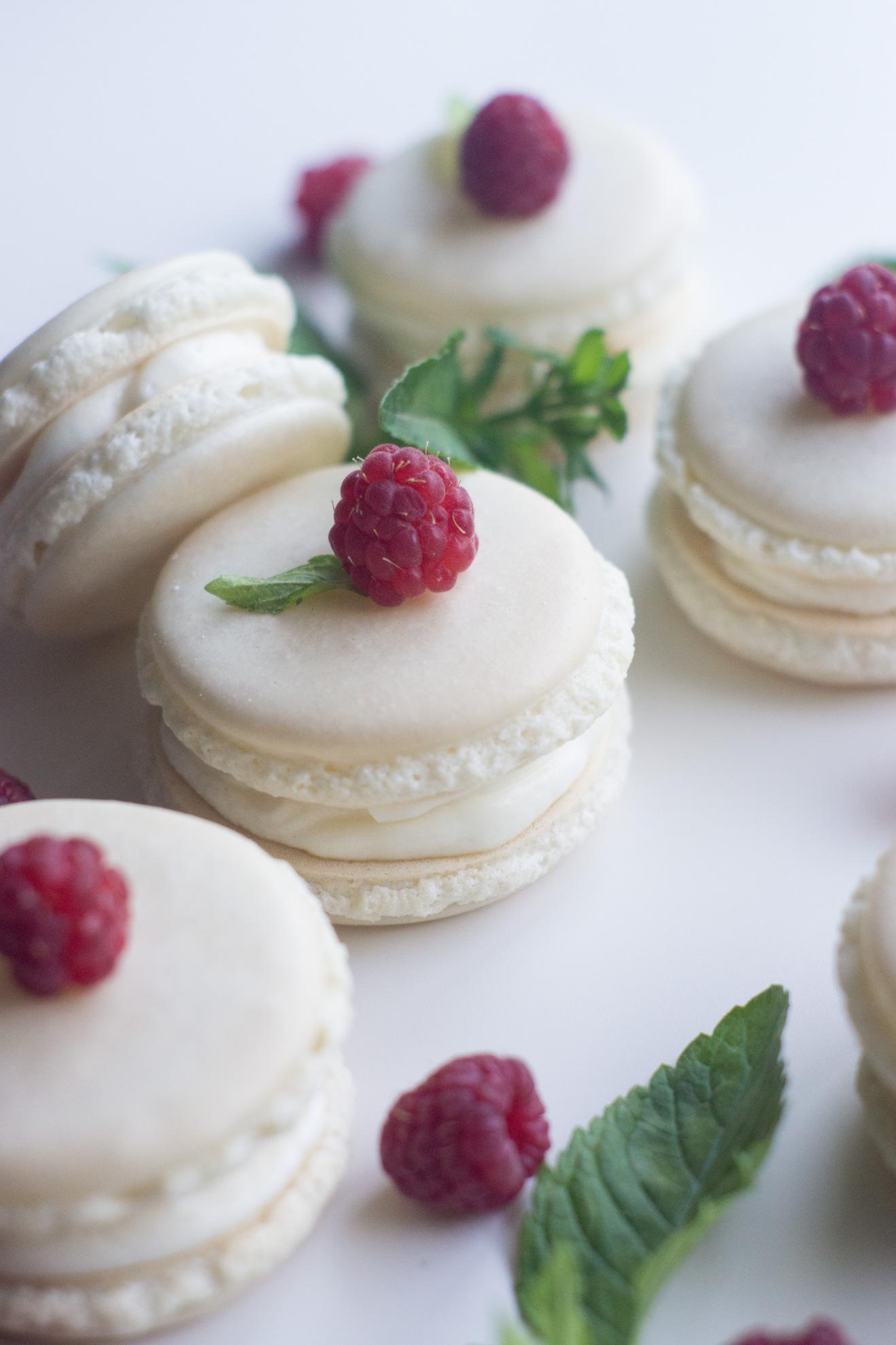 Lemon Raspberry Macarons
