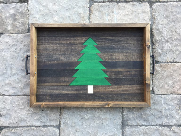 Show and Tell Link Party | Christmas Tree Serving Tray via Hazel & Gold Designs