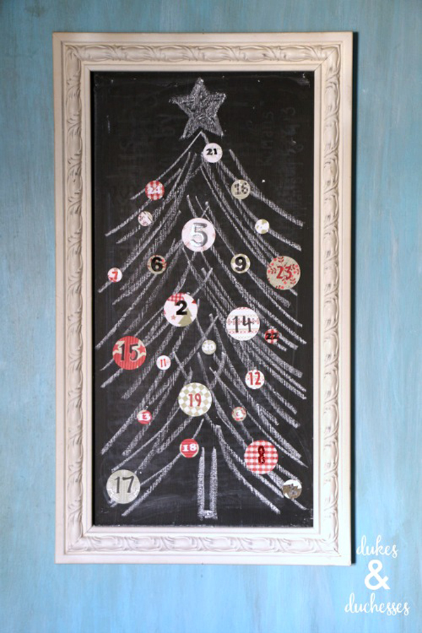 Show and Tell Link Party | Chalkboard Advent Calendar via Dukes & Duchesses
