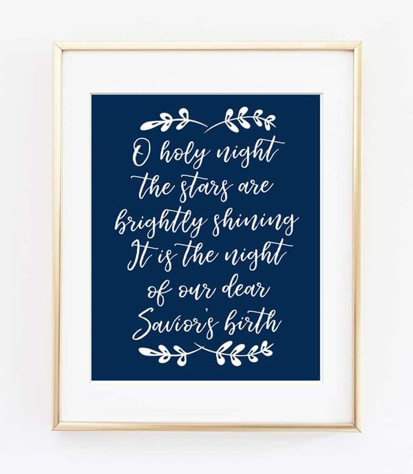 Show and Tell Link Party | Oh Holy Night Free Printable Art via Burlap & Blue
