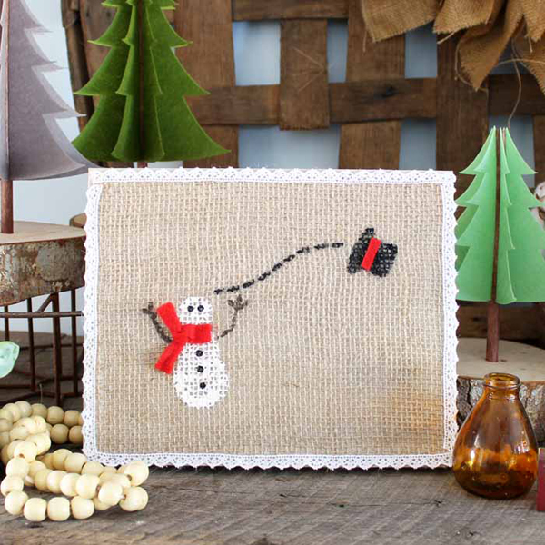 Show and Tell Link Party | Winter Snowman Art via The Country Chic Cottage