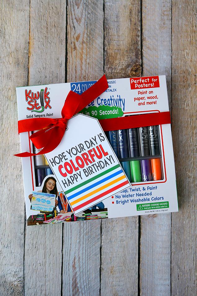 Kwik Stix   Cool paint sticks that dry in 90 seconds. My kids love them!