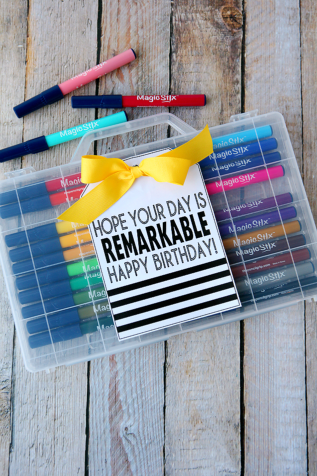 Hope Your Day Is ReMARKable. Happy Birthday! | Free printable birthday tags