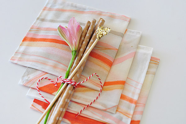 DIY Hand Painted Napkins via Delineate Your Dwelling