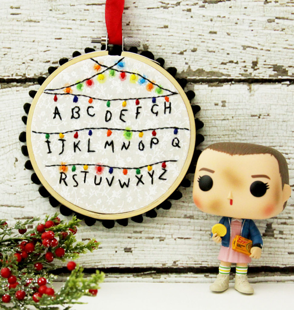 Stranger Things Hoop Ornament via Flamingo Toes