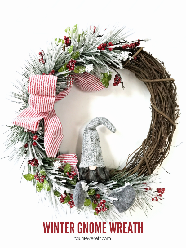 Winter Gnome Wreath via Tauni + Co.