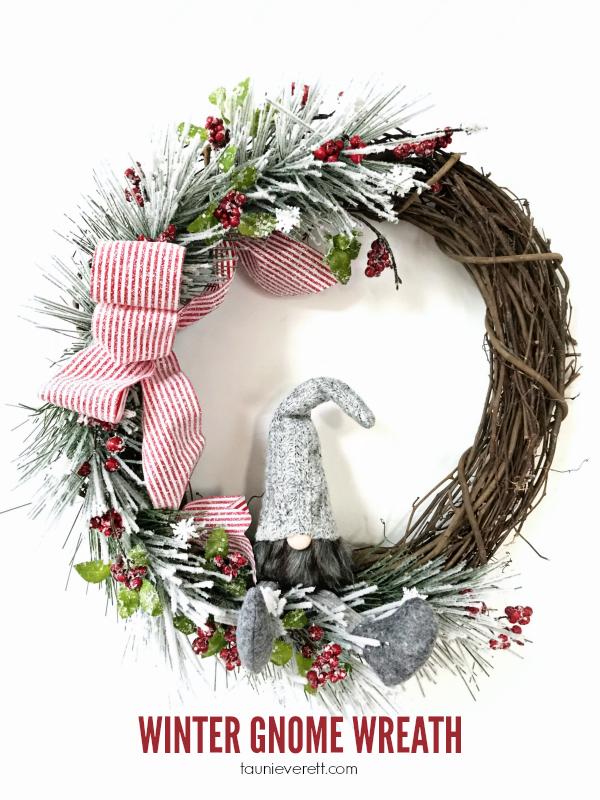 Winter Gnome Wreath via Tauni + Co.