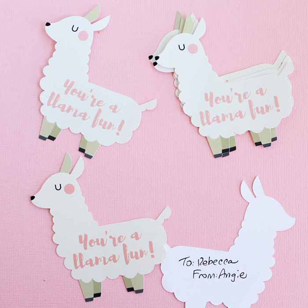 Funny Llama Valentine via The Country Chic Cottage