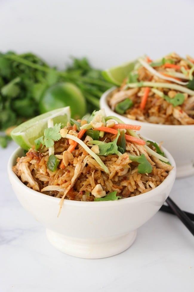 Instant Pot Thai Chicken Rice Bowls