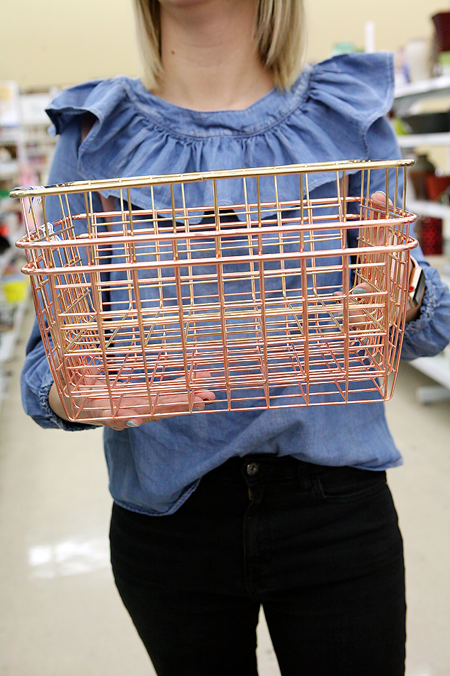 wire baskets from Savers