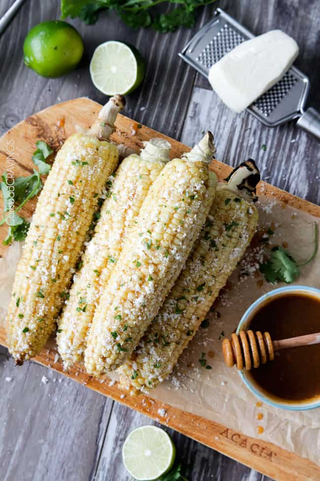 Grilled Corn On The Cob with Chipotle Honey Lime Butter | Carlsbad Cravings
