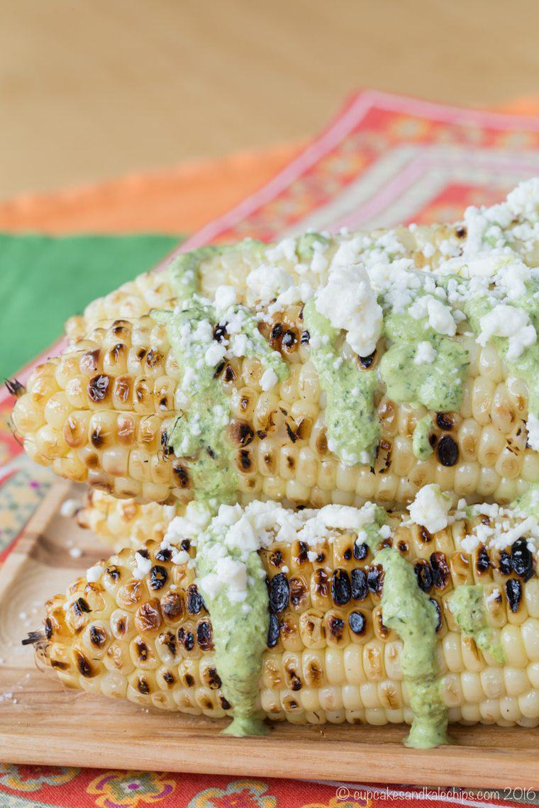 Peruvian-Style Grilled Street Corn | Cupcakes & Kale Chips