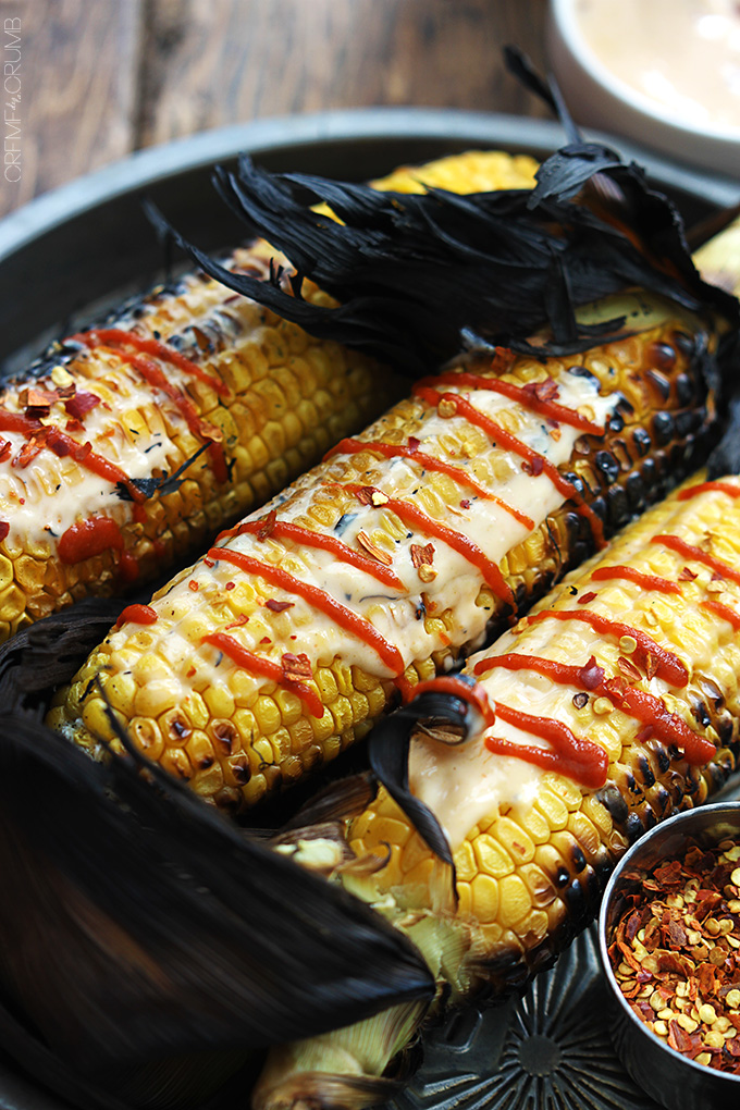Asian Grilled Corn On The Cob | Creme De La Crumb