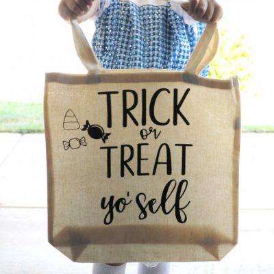 DIY Canvas Trick or Treat Bag