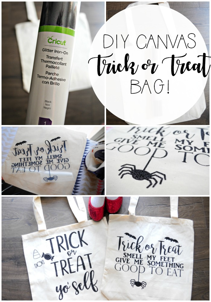 DIY Canvas Trick or Treat Bag. So fun and easy to make!!