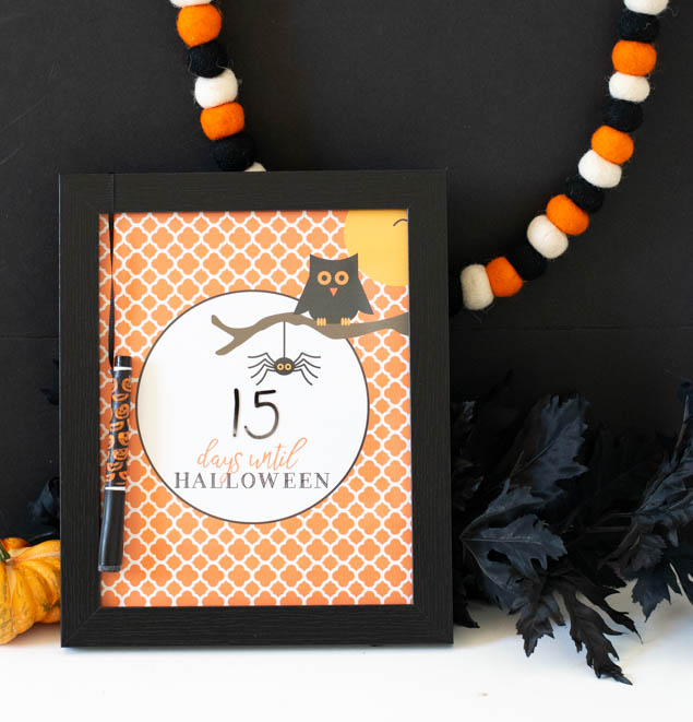 Fun Halloween Countdown Printable. Download for free, print and let the kids count down the days!!