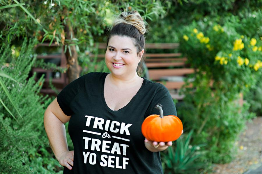 DIY Trick or Treat Yo Self Halloween Shirt