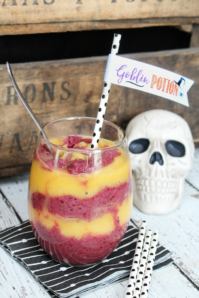 Goblin Potion a Healthy Halloween Smoothie