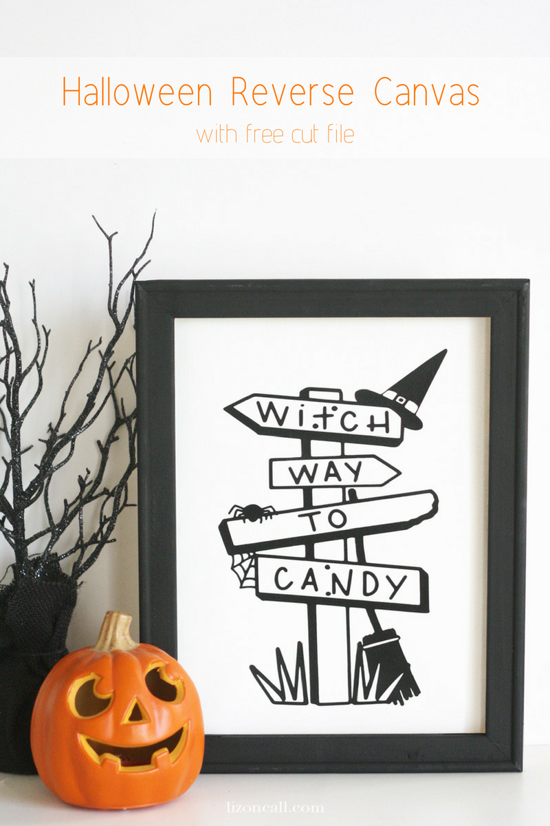 Halloween Reverse Canvas with Free Cut File