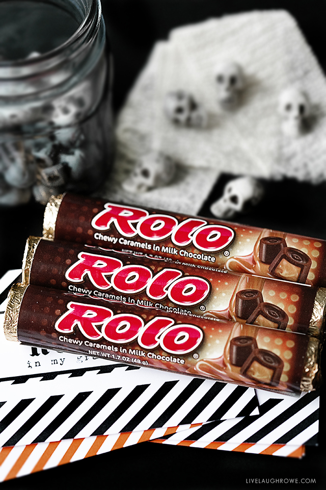 Rolo-ver In My Grave Halloween Candy Wrappers for Rolo Candy Bars