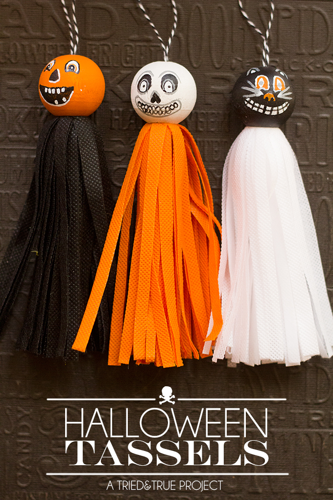 Make these fun Vintage Halloween Tassels to decorate your house this year! Easy to make and customize!