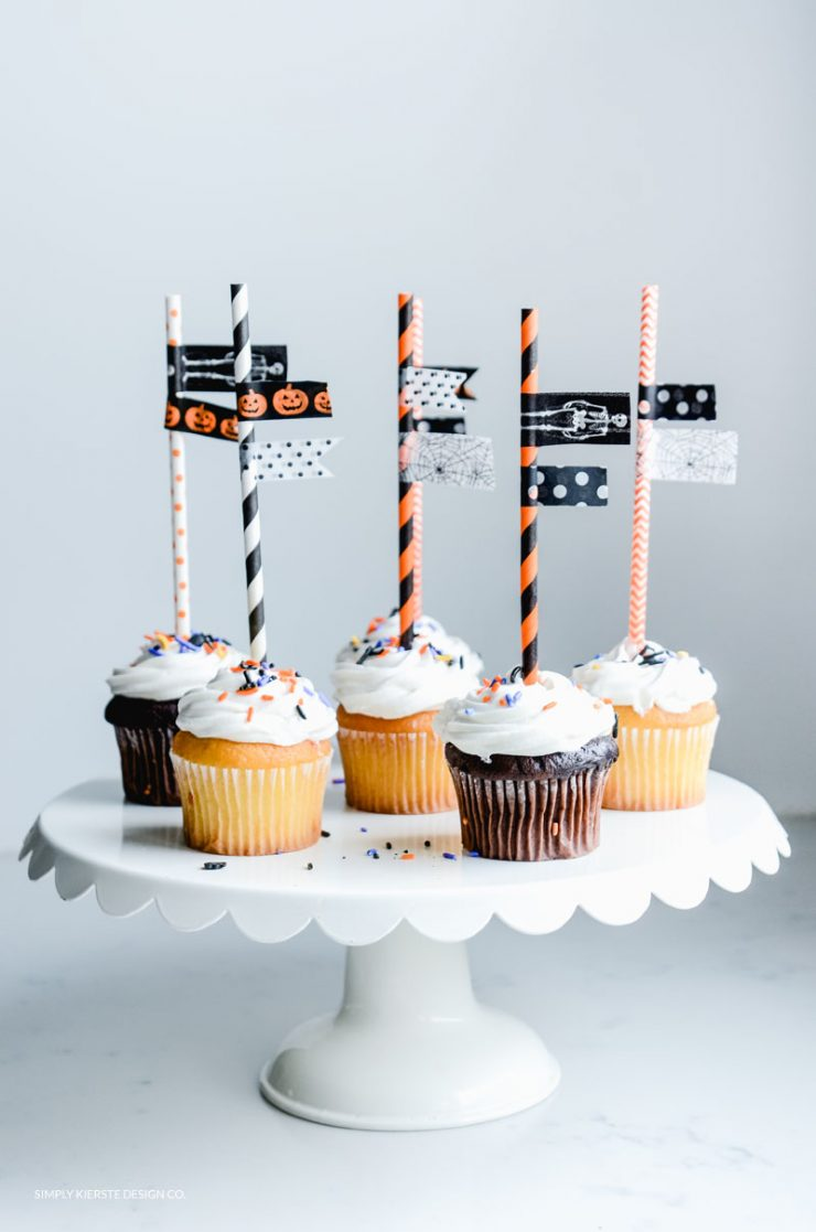 Cutest Halloween Cupcake Toppers. So easy and fun to make for all your Halloween celebrations!