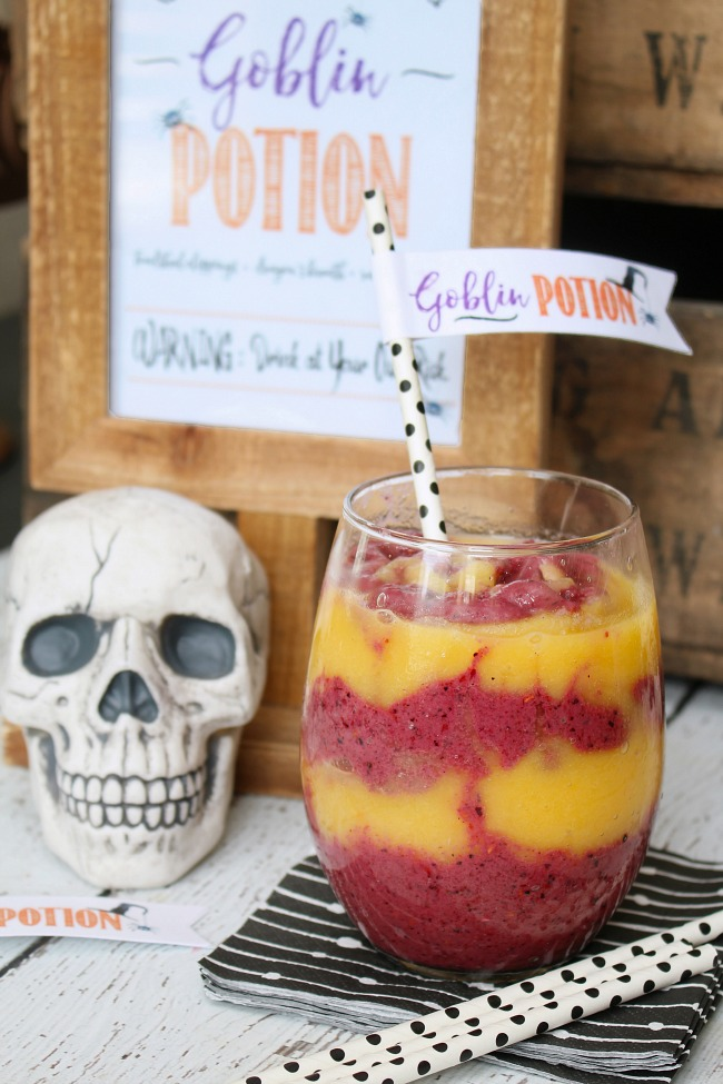 Healthy Halloween Smoothie Recipe | Try this Goblin Potion for a yummy Halloween Treat